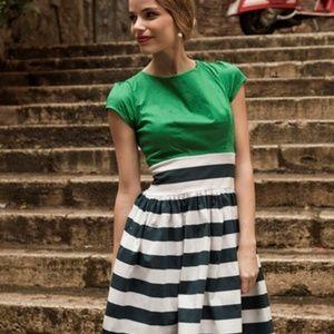 Shabby Apple striped retro cotton plus size dress